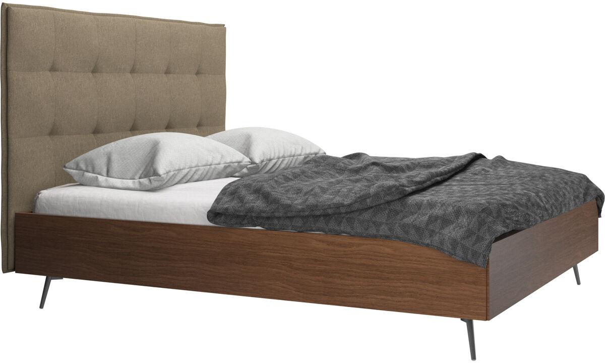 Betten - Lugano Bett, Lattenrost und Matratze gegen Aufpreis - Grün - Stoff