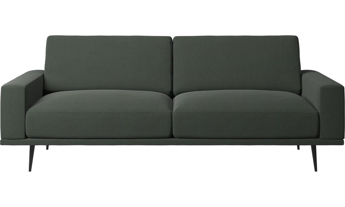 Sofás de 2 plazas y media - sofá Carlton - En verde - Tela