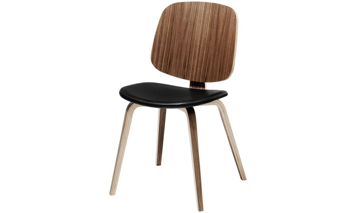 Dining chairs - Aarhus chair - Black - Leather