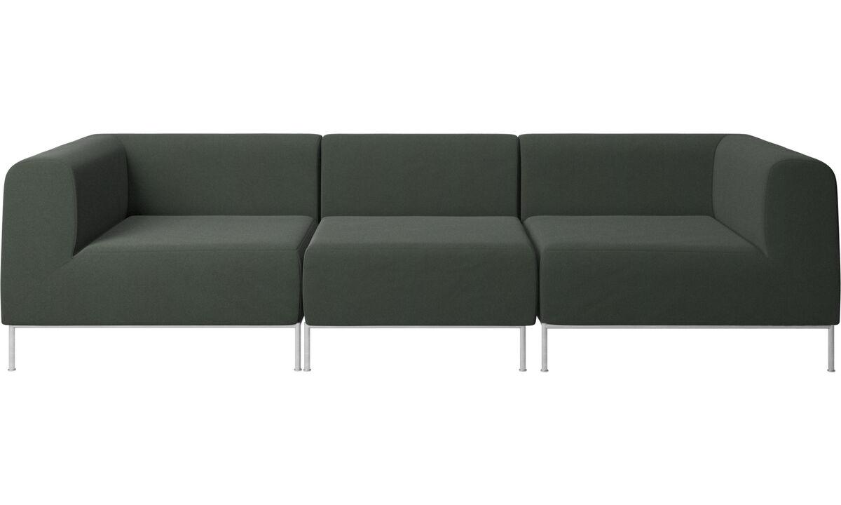 Sofás modulares - sofá Miami - Verde - Tecido