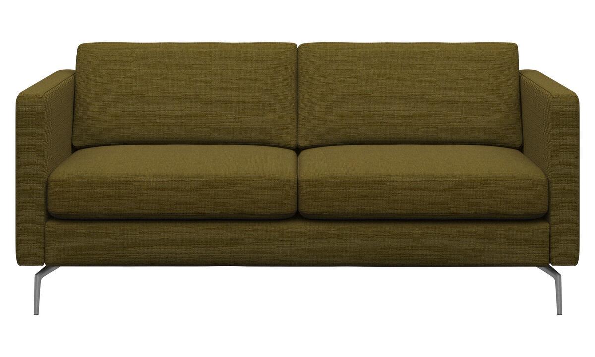 Sofás de 2 plazas - sofá Osaka, asiento regular - En amarillo - Tela