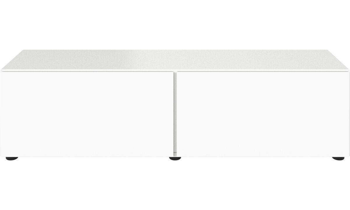 Tv units - Lugano base cabinet with drop down doors - Lacquered