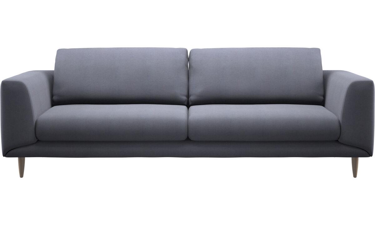 Трехместные диваны - Диван Fargo - Синего цвета - Tкань
