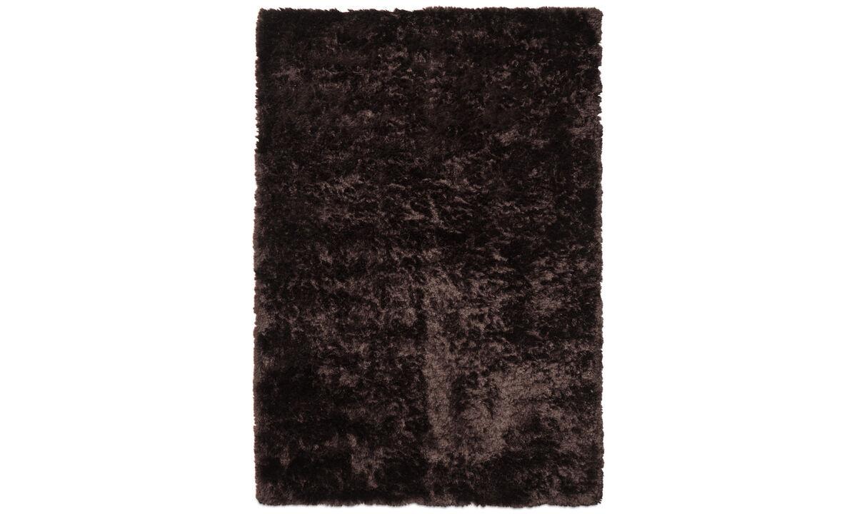 Runde tepper - Beijing teppe - rektangulær - Brunt - Tekstil