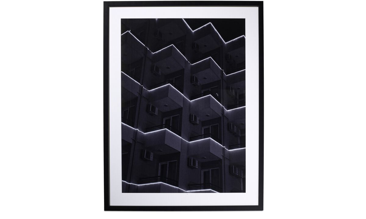Galerie - Photo d'art City of light 2 - Black - Bois