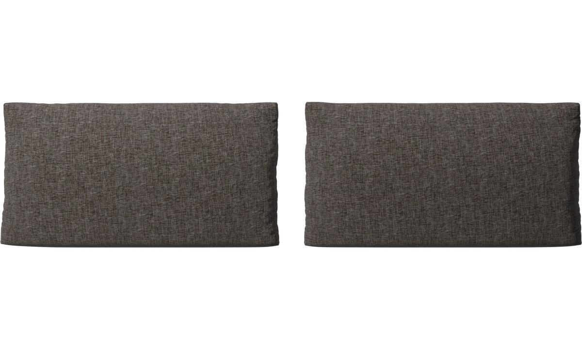 Accesorios para muebles - Cojines de sofá Nantes - En marrón - Tela