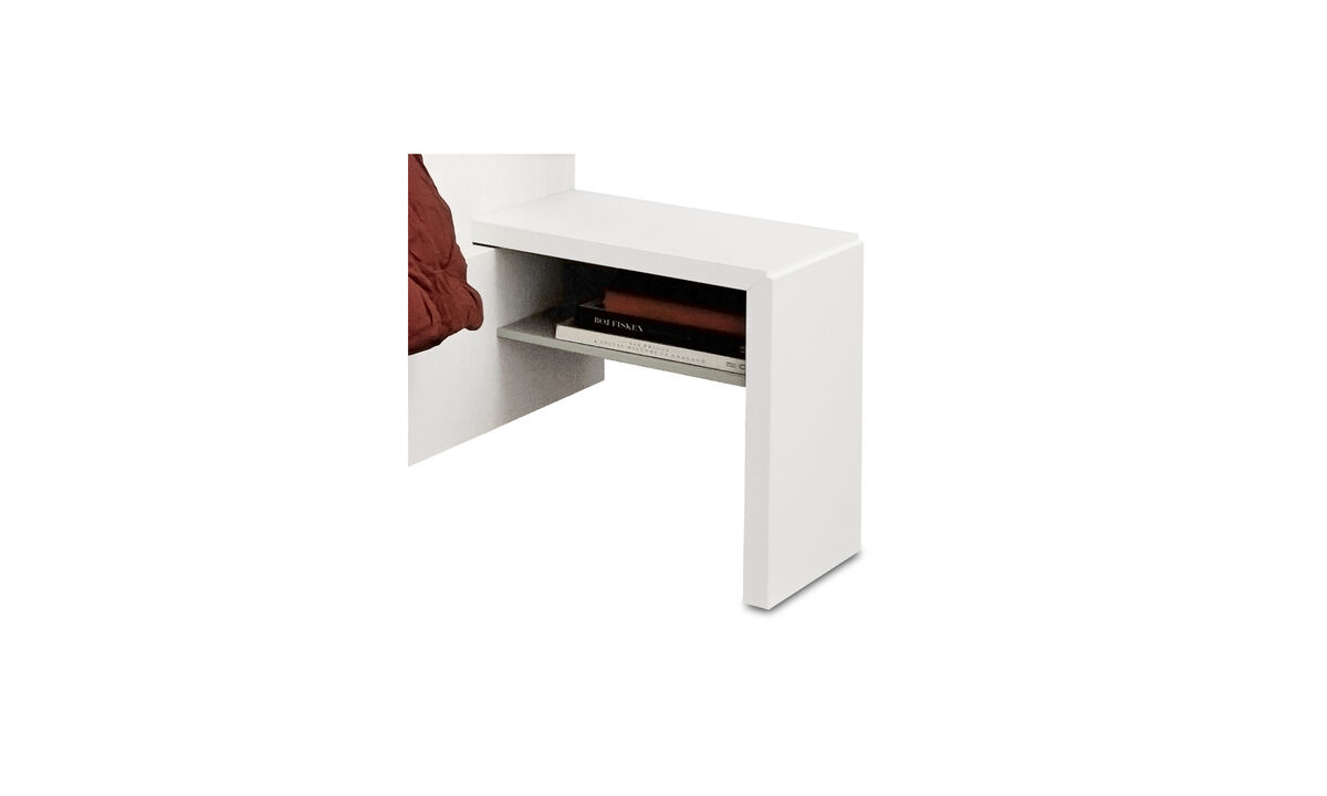 Night stands - Lugano night stand - rectangular - White - Lacquered