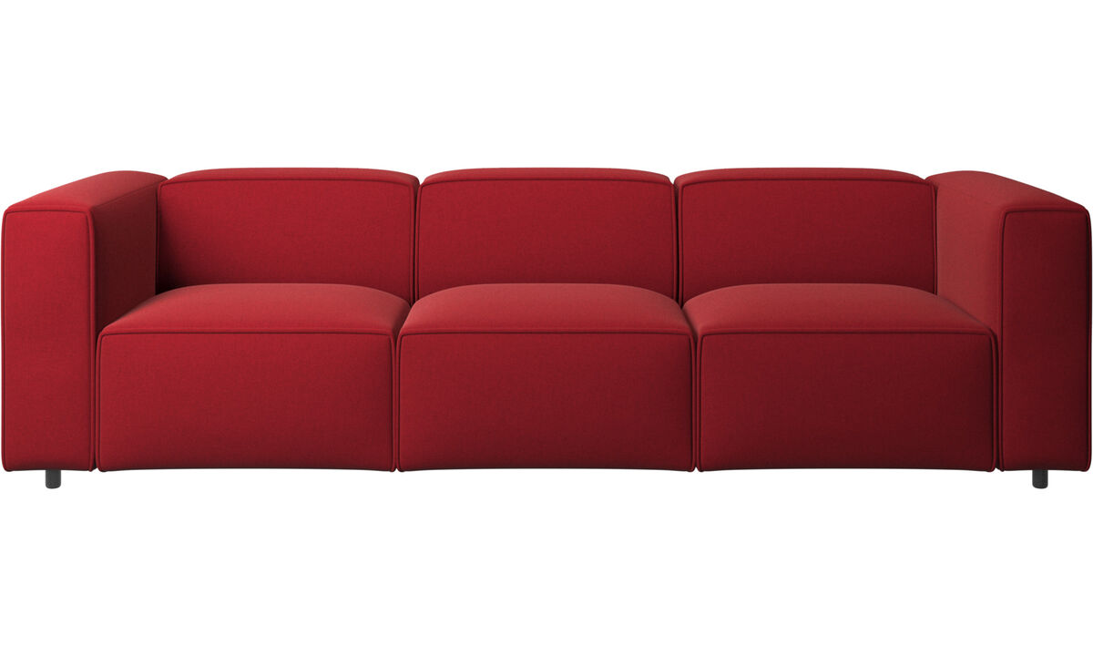 3 personers sofaer - Carmo sofa - Rød - Stof