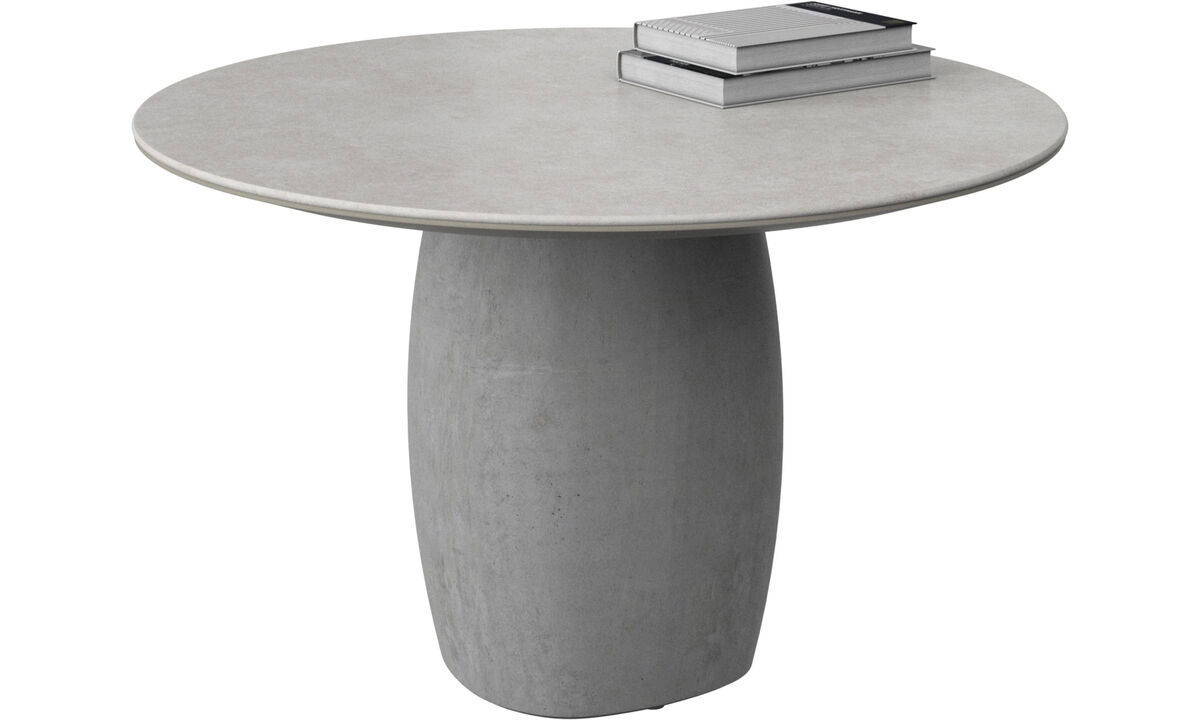 Coffee tables - Bilbao coffee table - round - Grey - Ceramic