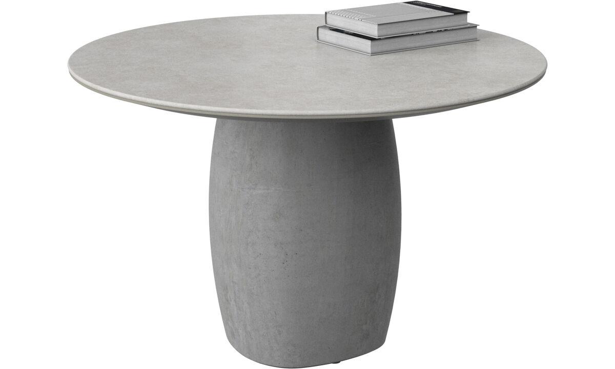 Mesas de centro - mesa lateral Bilbao - redonda - Cinza - Cerâmico