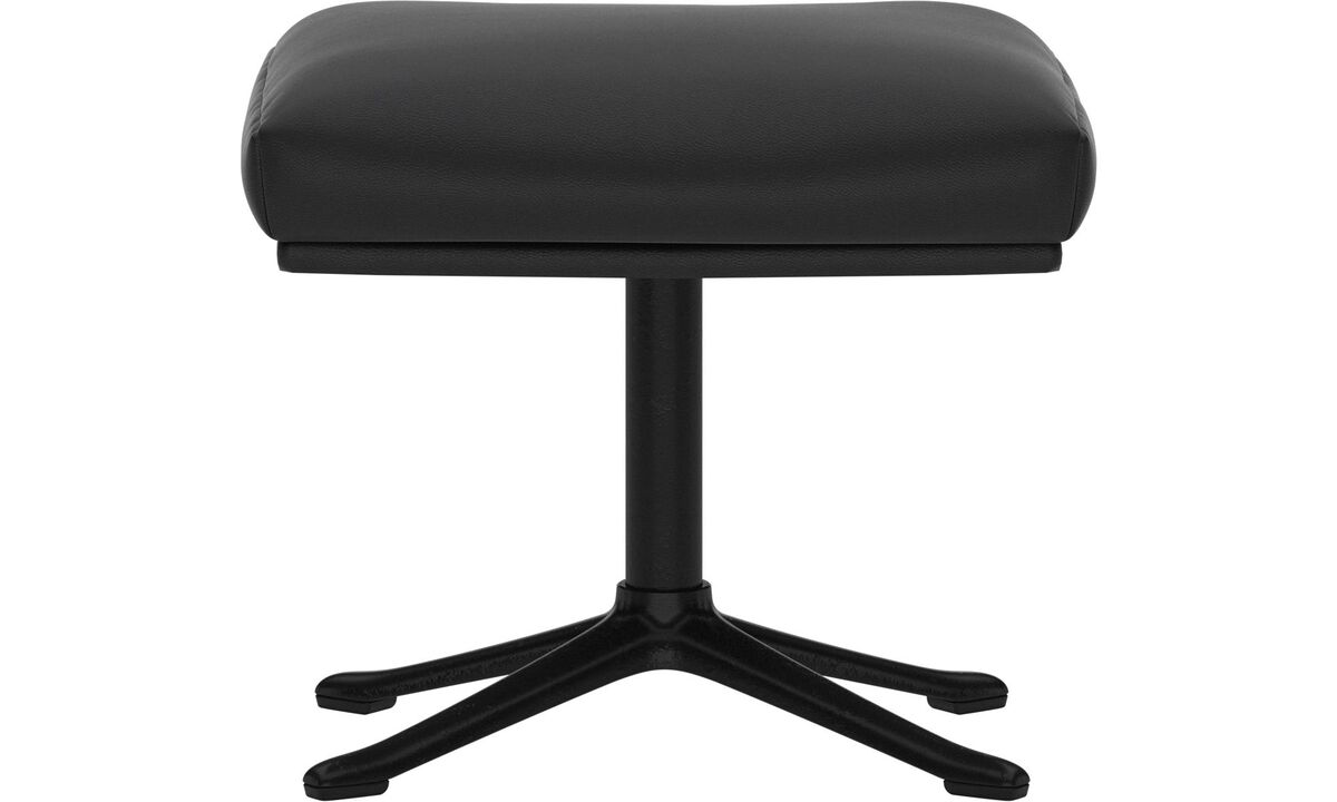 Footstools - Reno footstool - Black - Leather