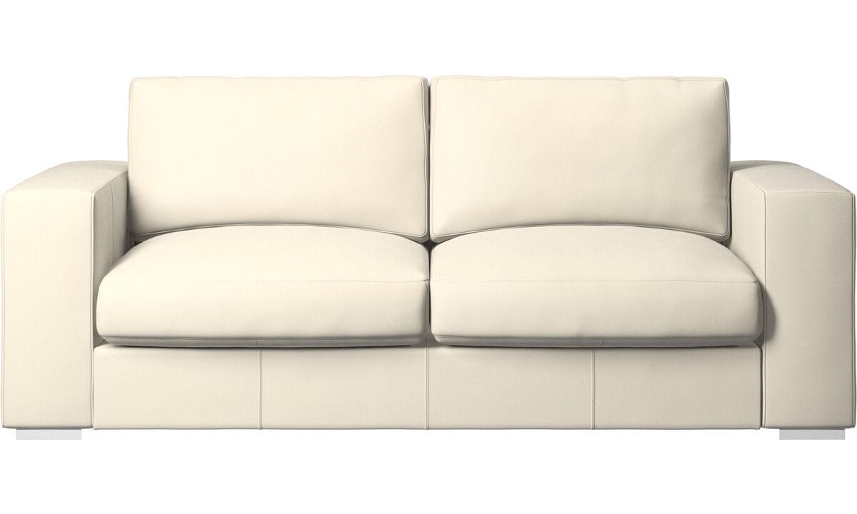 2.5 seater sofas - Cenova sofa - White - Leather