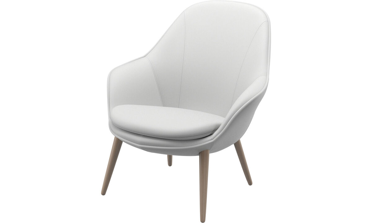 Armchairs - Adelaide living chair - White - Leather
