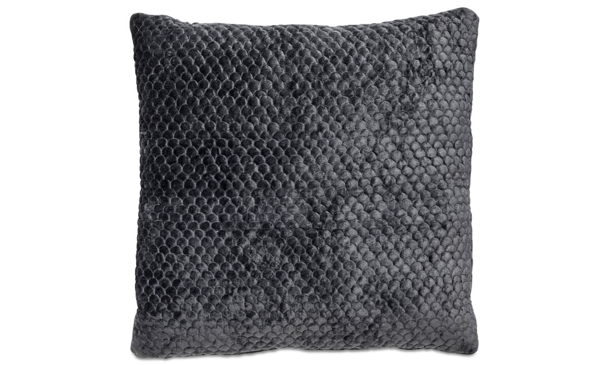 Patterned cushions - Quilt cushion - Grey - Fabric