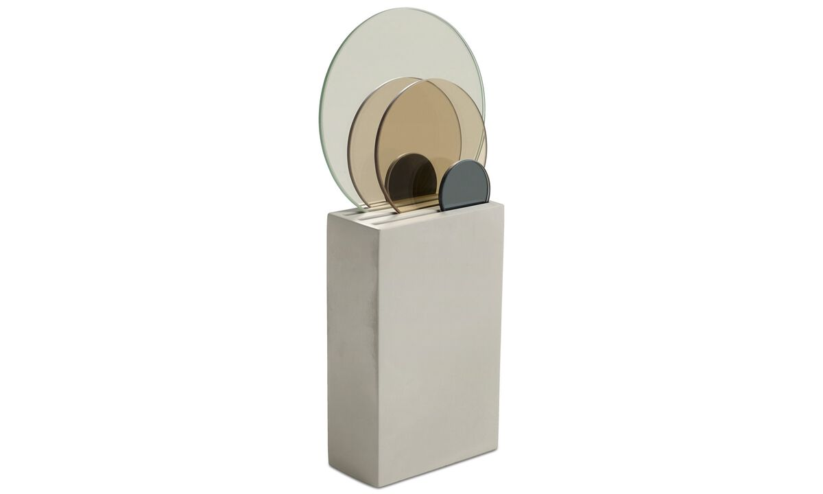 Sculptures - Mirror sculpture - Gray - Concrete