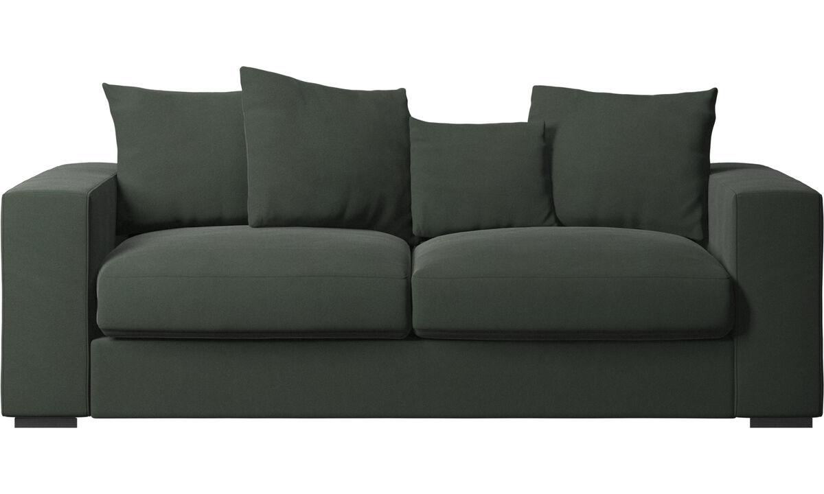 Sofás de 2 lugares e meio - Sofá Cenova - Verde - Tecido