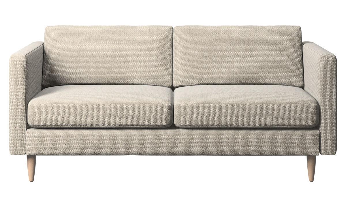 Двухместные диваны - Диван Osaka, стандартное сиденье - Бежевого цвета - Tкань