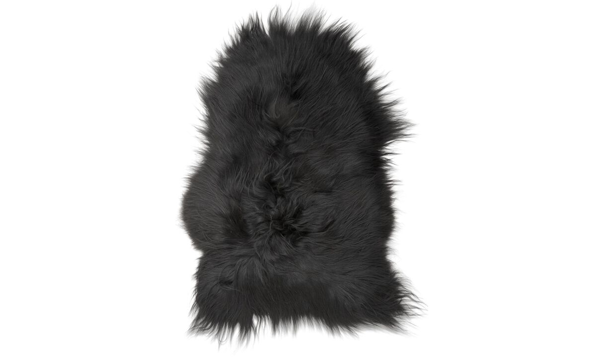 Throws & bedspreads - Sheepskin - Black - Sheepskin