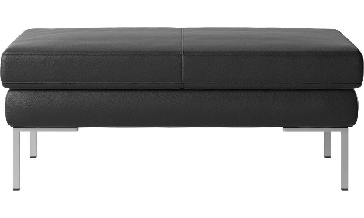 Footstools - Istra 2 ottoman - Black - Leather