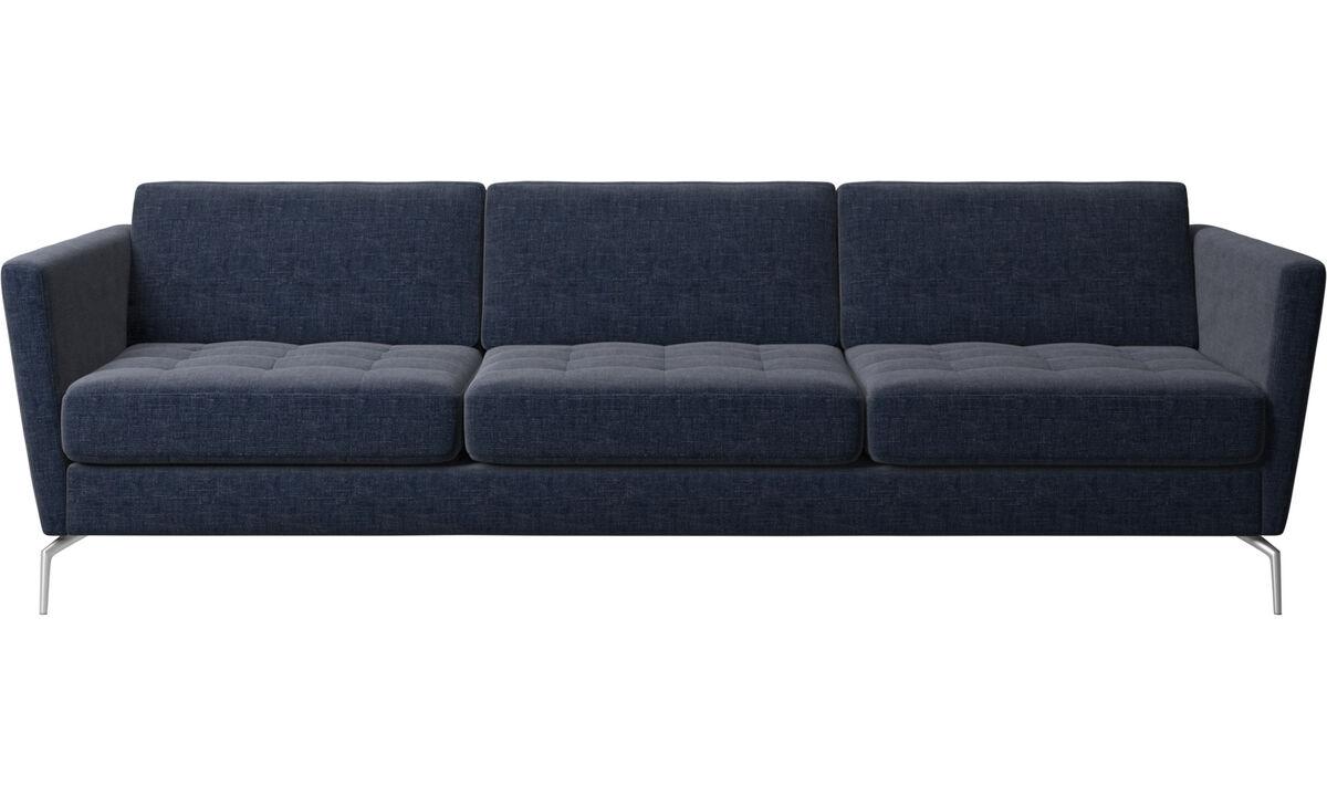 Une touche de sophistication - canapé Osaka, assise capitonnée - Bleu - Tissu