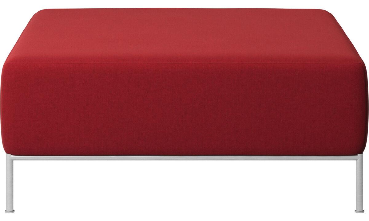 Modulære sofaer - Miami puf - Rød - Stof