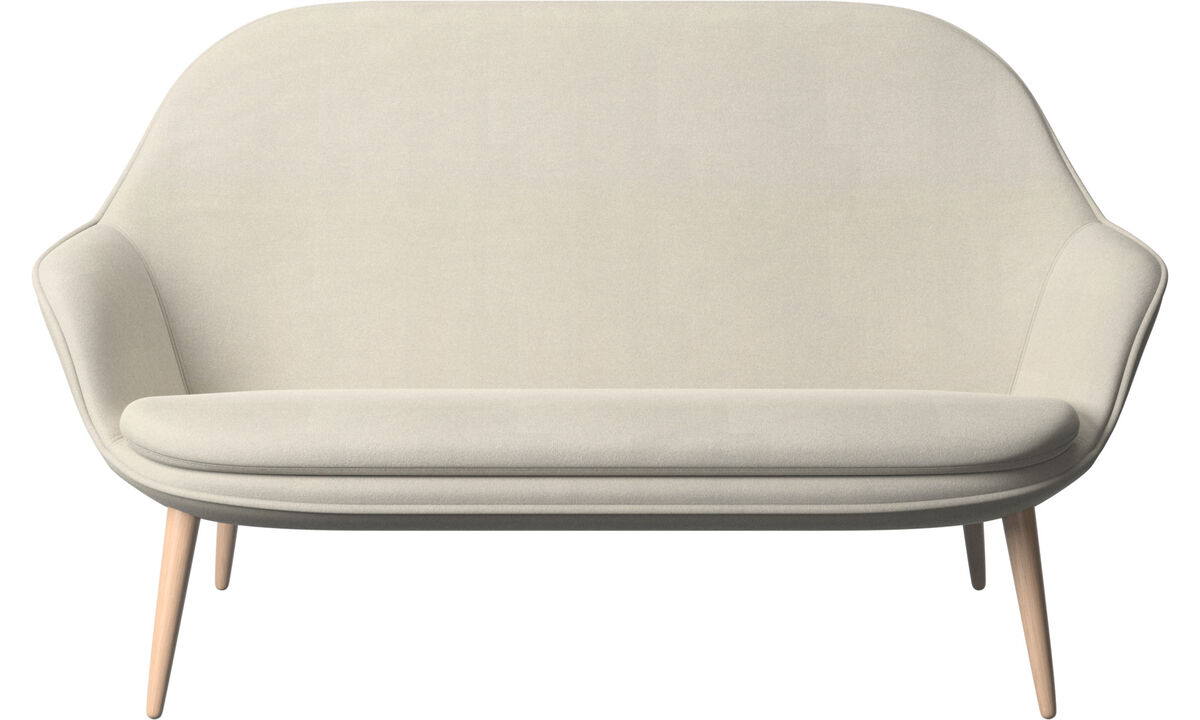 2 seater sofas - Adelaide sofa - White - Fabric