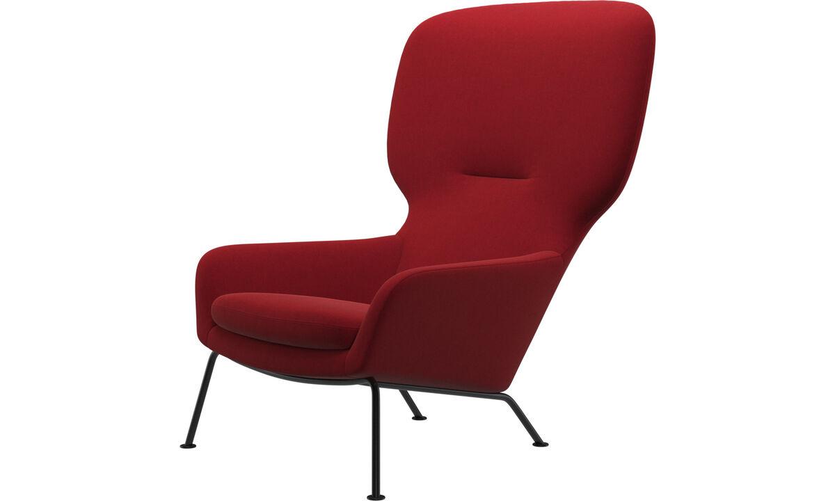 Fauteuils - Dublin fauteuil - Rood - Stof
