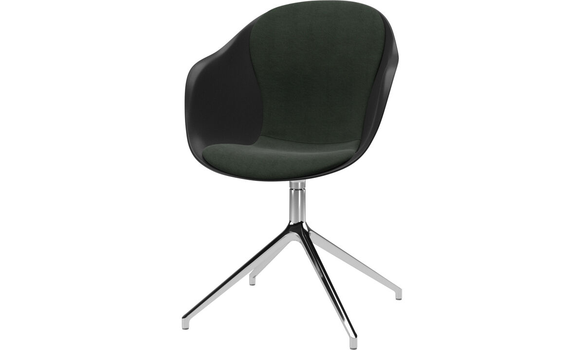 Dining chairs - Adelaide chair with swivel function - Green - Fabric