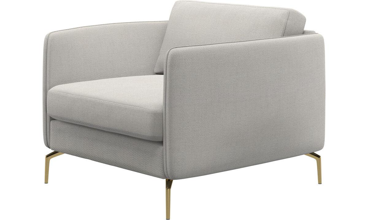 Armchairs - Osaka chair, regular seat - White - Fabric