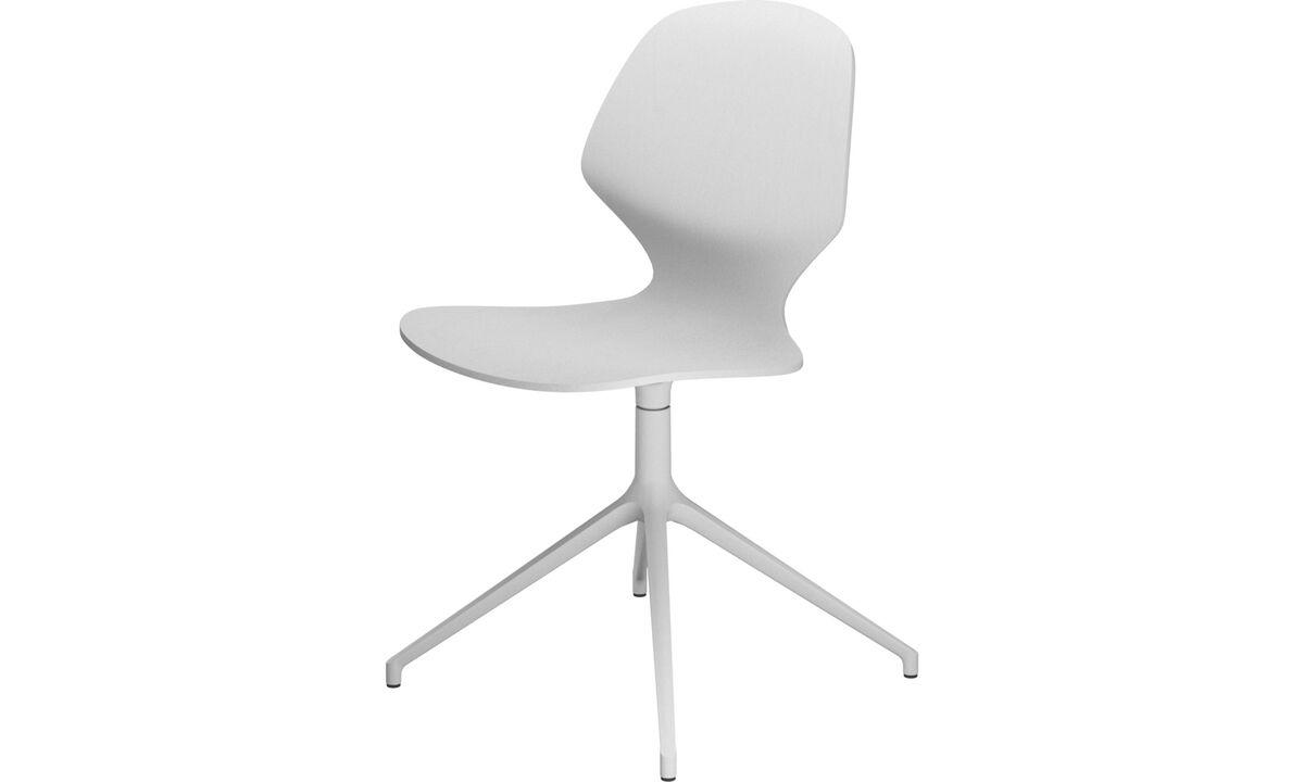 Обеденные стулья - cтул Florence с функцией вращения - Белый - Лак