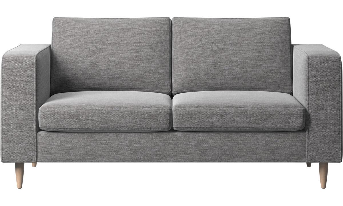 2 seater sofas - Indivi 2 sofa - Grey - Fabric