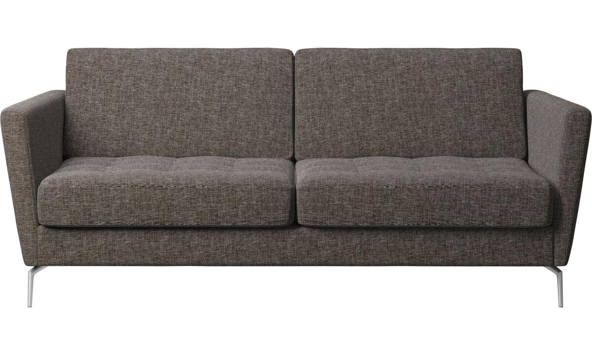 Sofa beds - Osaka sofa bed, tufted seat - Brown - Fabric