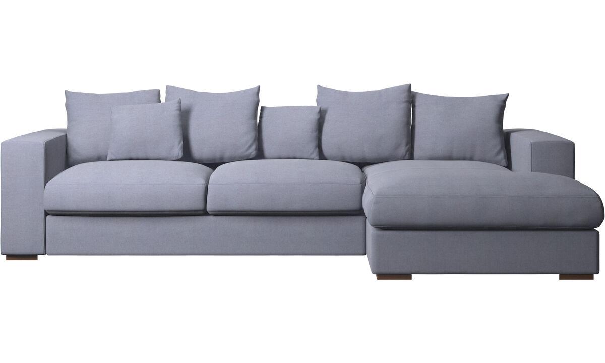 Chaise longue sofas - Cenova sofa with resting unit - Blue - Fabric