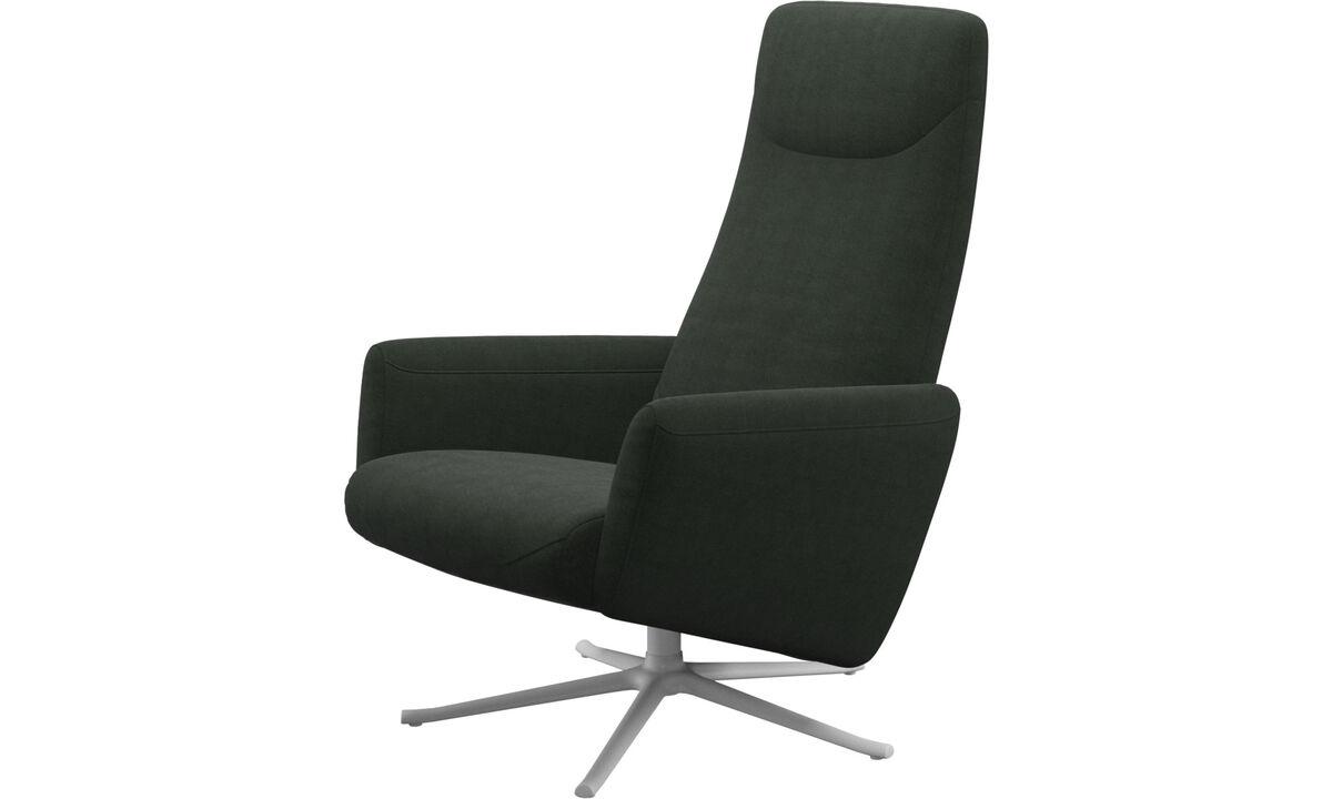 Butacas reclinables - Butaca reclinable Lucca con función giratoria - En verde - Tela