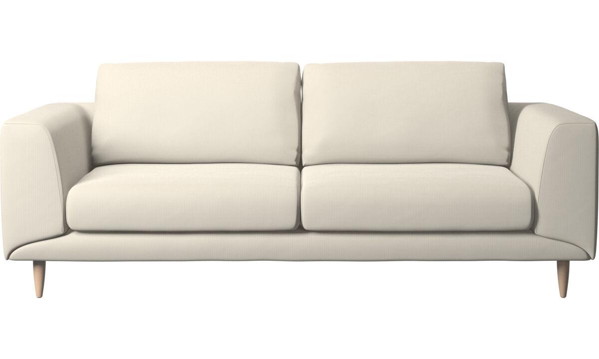 2.5 seater sofas - Fargo sofa - White - Fabric