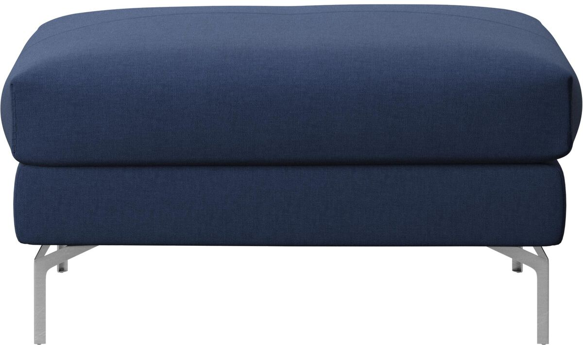 Footstools - Nice footstool/basic unit - Blue - Fabric