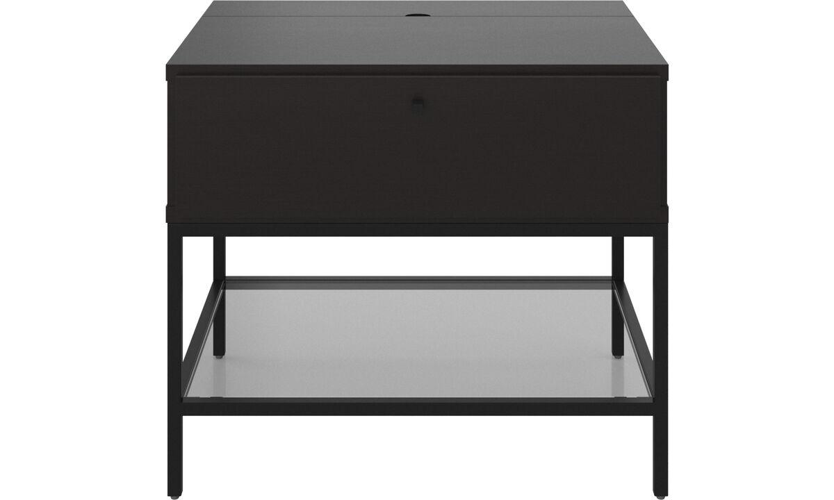 床头柜 - Bordeaux 床头柜 - 矩形 - 黑色 - 橡木