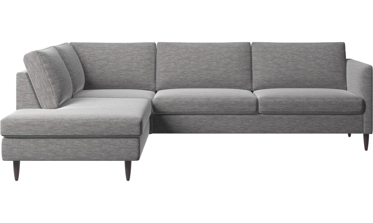 Sofas with open end - Indivi divano ad angolo con modulo relax - Grigio - Tessuto
