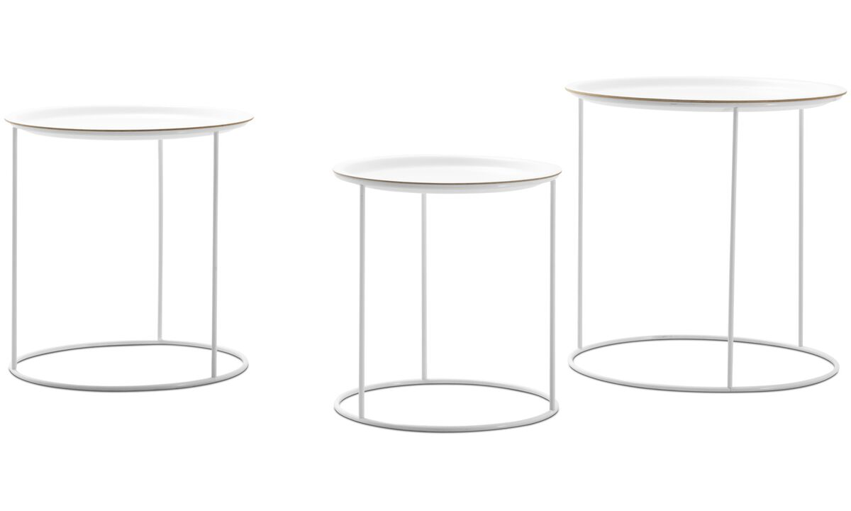 Night stands - Cartagena nest of tables - round - White - Lacquered
