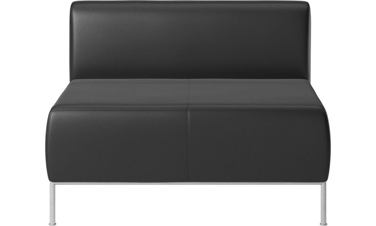 Модульные диваны - Сидение со спинкой Miami - Черного цвета - Кожа