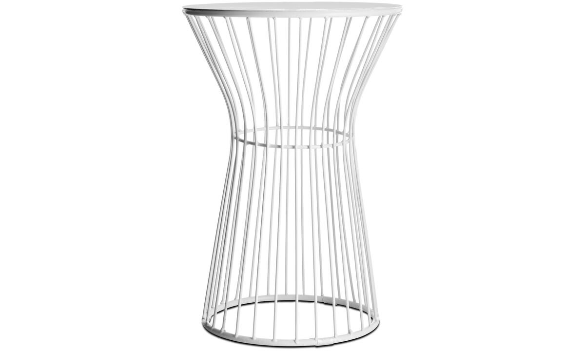 Hocker - Wire stool - Weiß - Metall