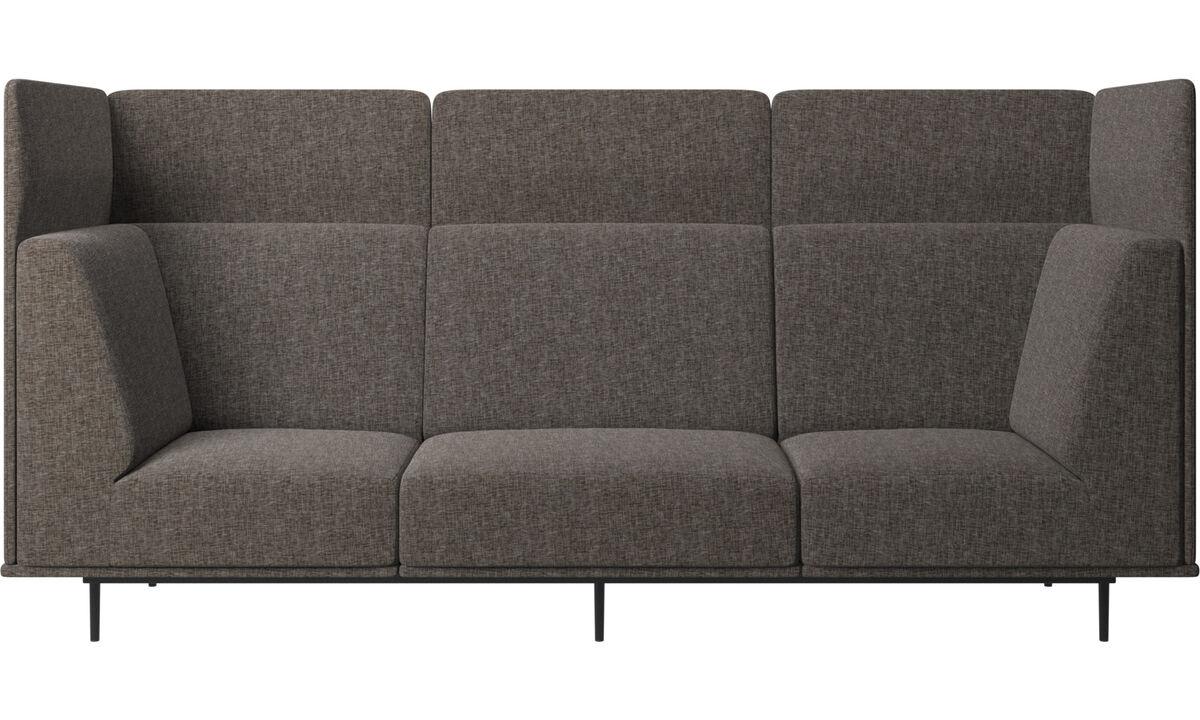 Sofás de 3 plazas - sofá Toulouse - En marrón - Tela