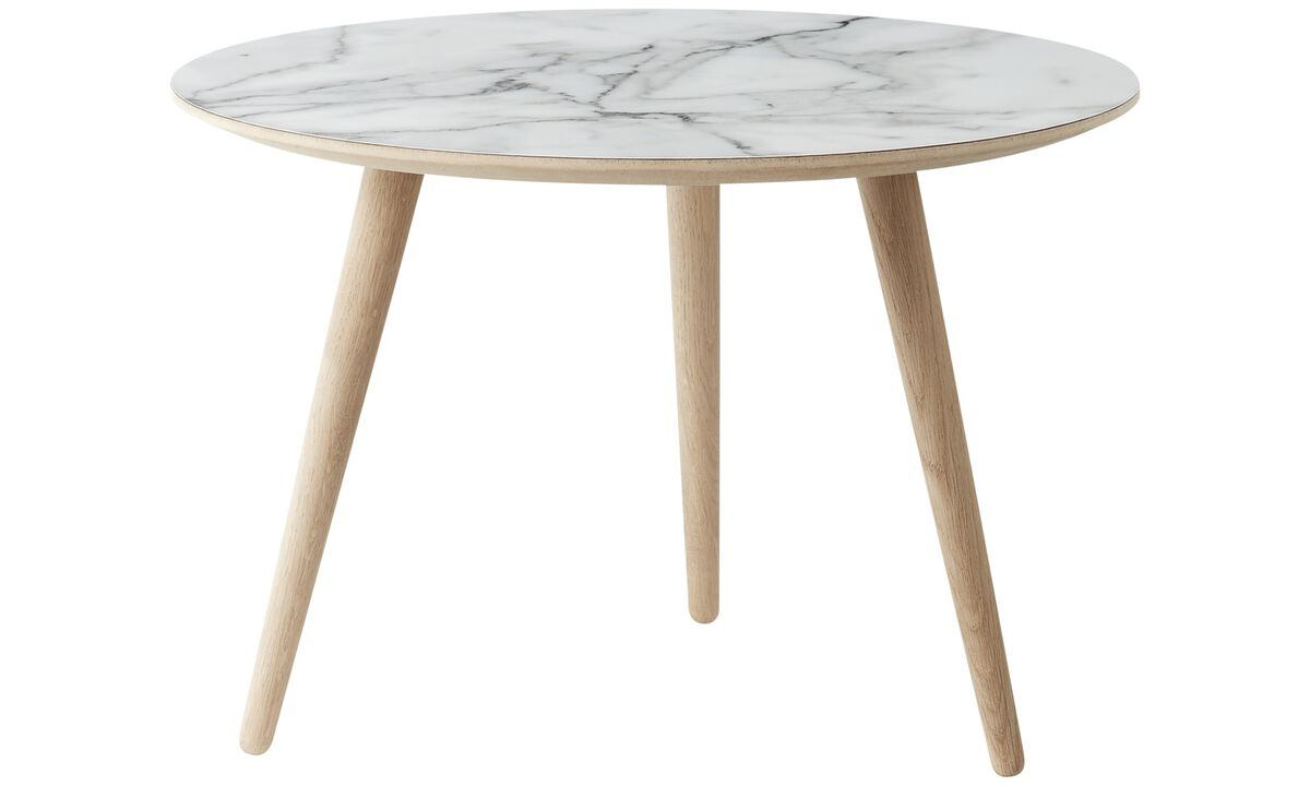 Night stands - Bornholm coffee table - round - White - Laminate