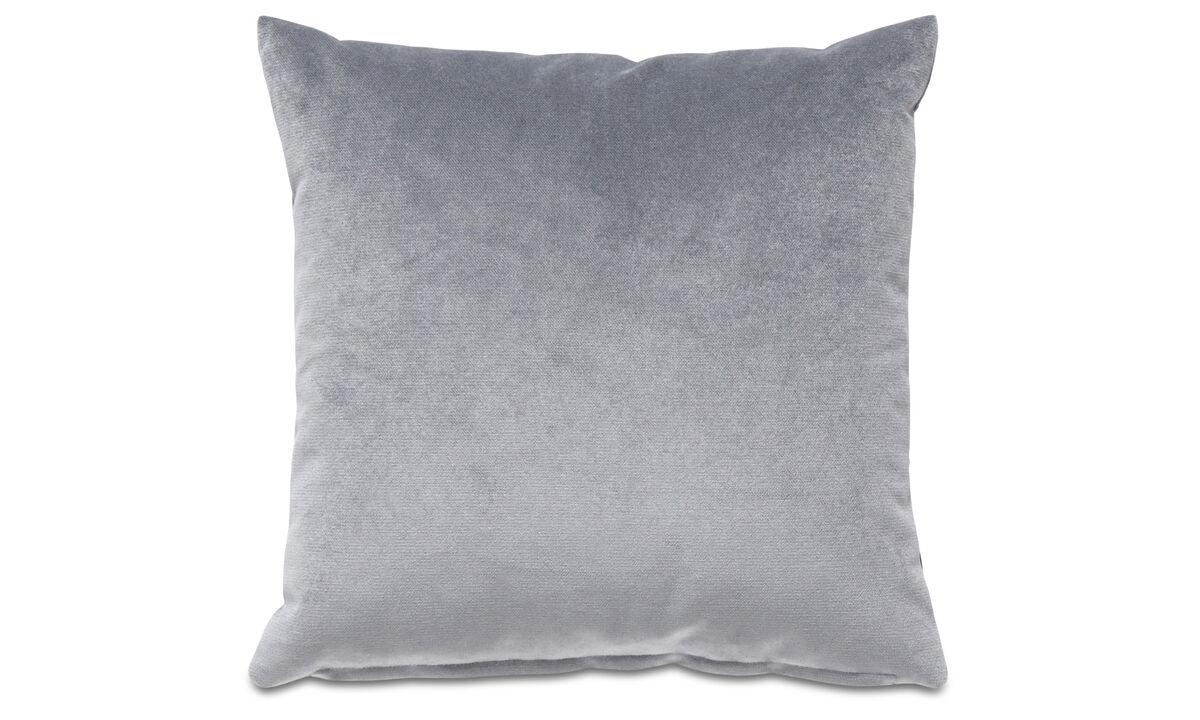 Cojines de terciopelo - Cojín Velvet plain - En azul - Tela