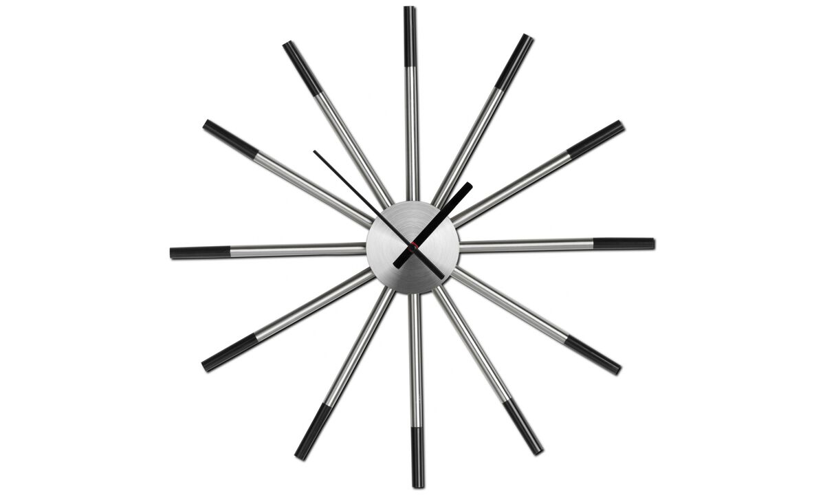 Decoration - Watch me wall clock - Black - Metal