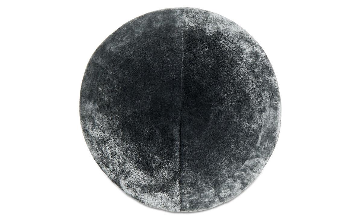 Runde tæpper - Radius tæppe - rund - Blå - Uld