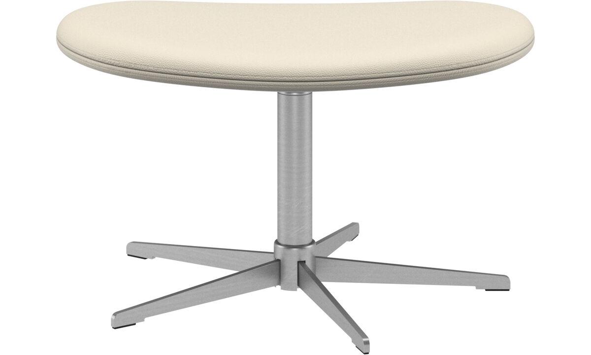 Footstools - Ogi footstool - White - Leather
