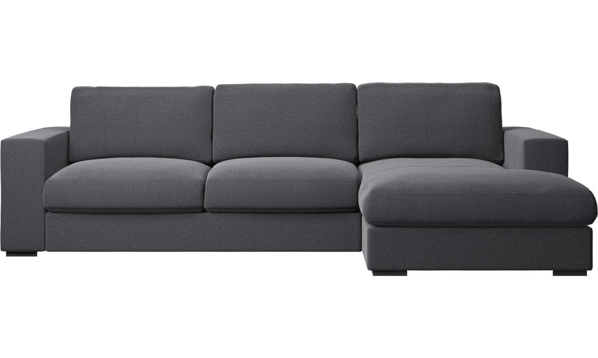Chaise longue sofas - Cenova sofa with resting unit - Grey - Fabric