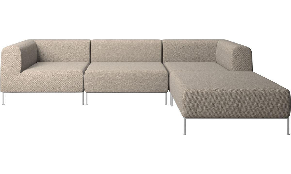 Sofaer med hvilemodul - Miami sofa med puf på højre side - Beige - Stof