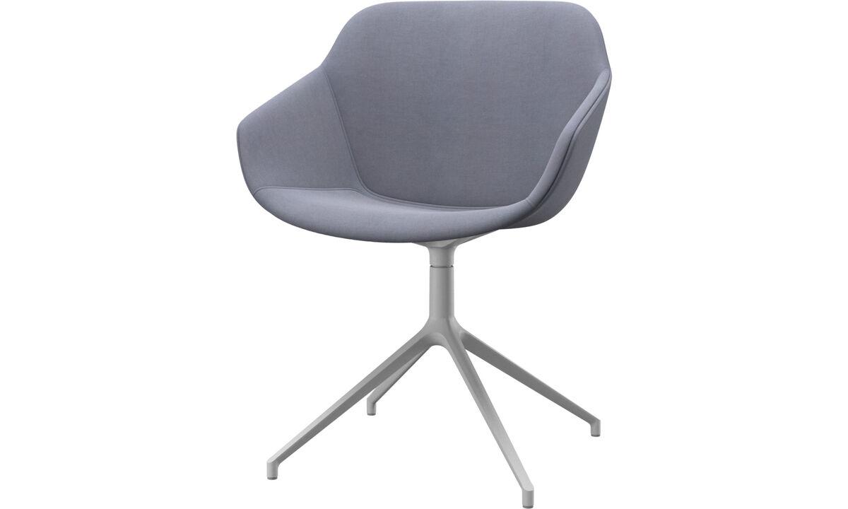 Chaises de salle à manger - chaise Vienna avec fonction pivotante - Bleu - Tissu